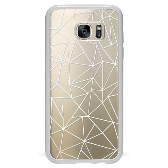 Samsung Galaxy S7 Edge Cases - Abstraction Outline White Transparent