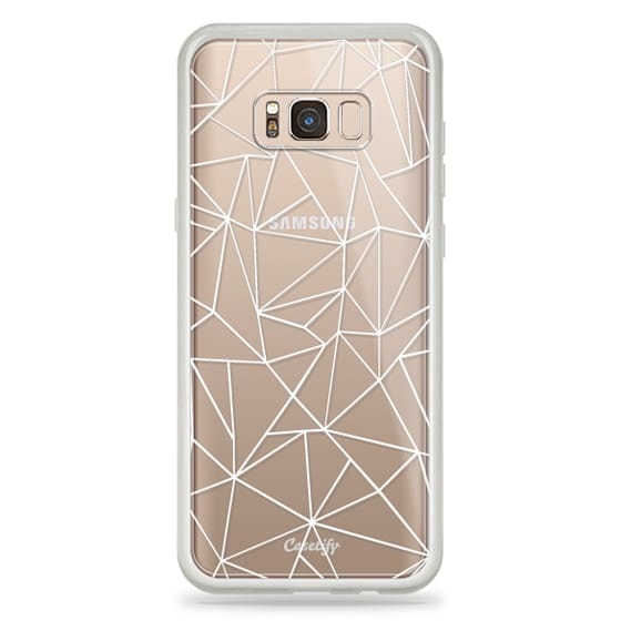 Samsung Galaxy S8 Plus Cases - Abstraction Outline White Transparent