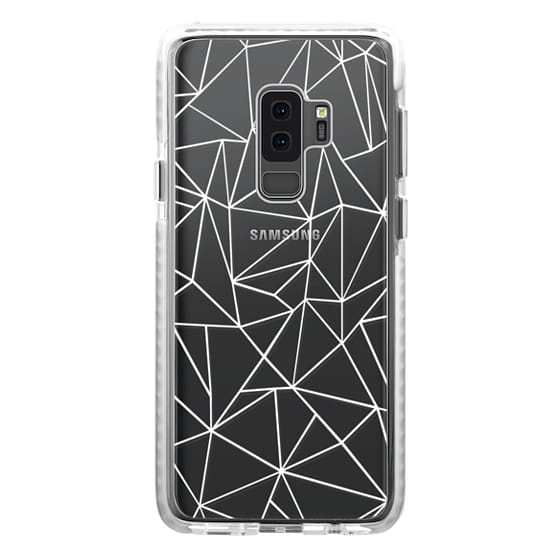 Samsung Galaxy S9 Plus Cases - Abstraction Outline White Transparent