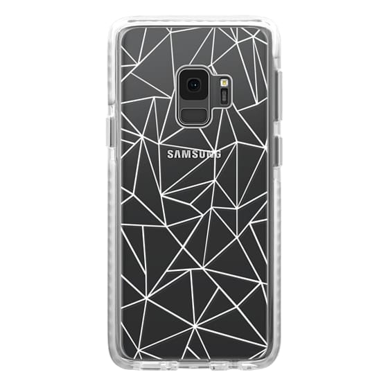 Samsung Galaxy S9 Cases - Abstraction Outline White Transparent