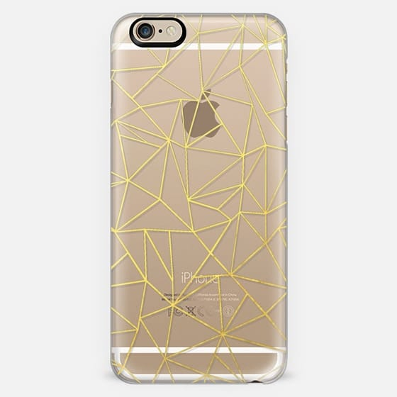Abstract Outline Gold Transparent #2 -