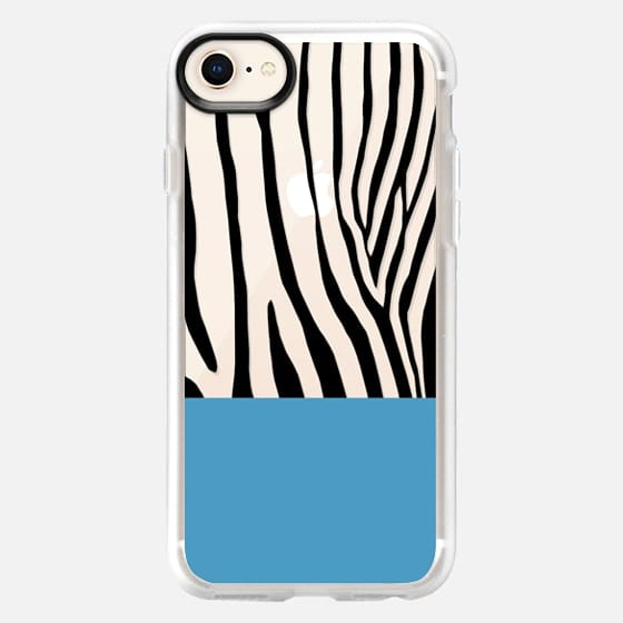 Zebra Blue Black Transparent - Snap Case
