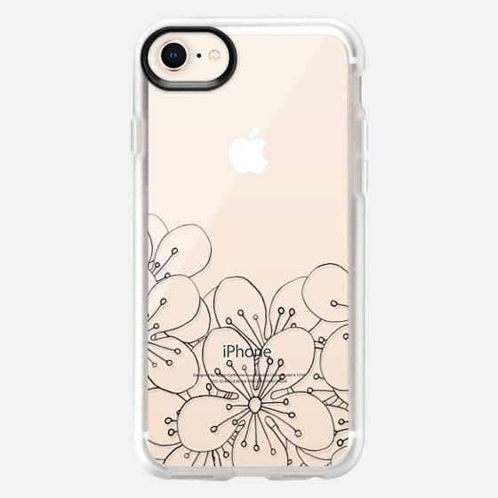 Cherry Blossom Boarder Transparent #2 - Snap Case