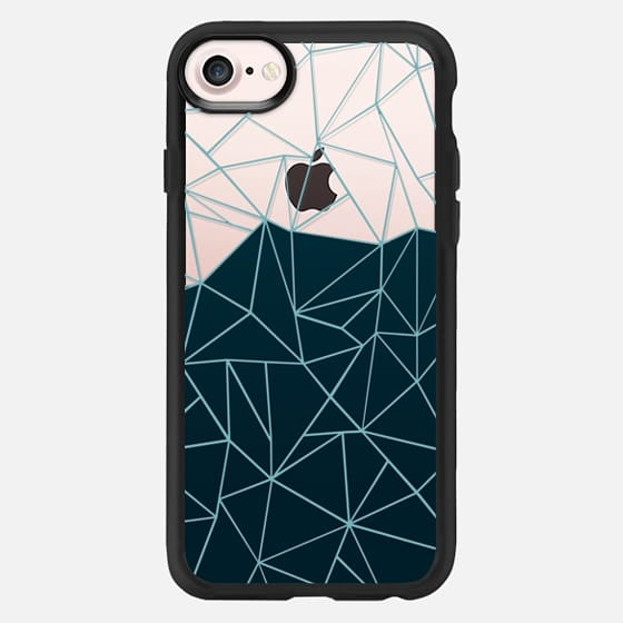 Ombre Teal Transparent -