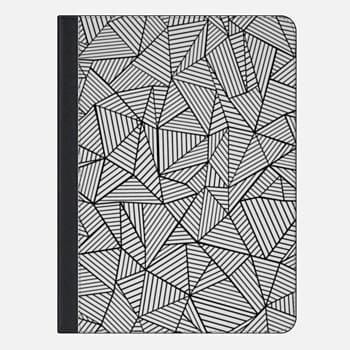 iPad Air 2 Case Abstraction Lines #2 Black and White