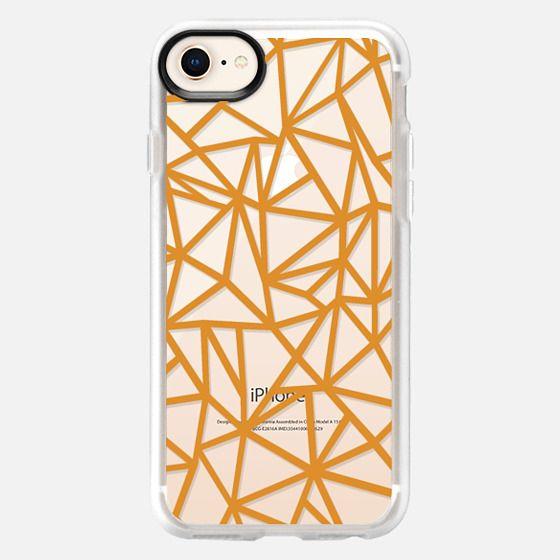 Abstraction Dense Orange Transparent - Snap Case