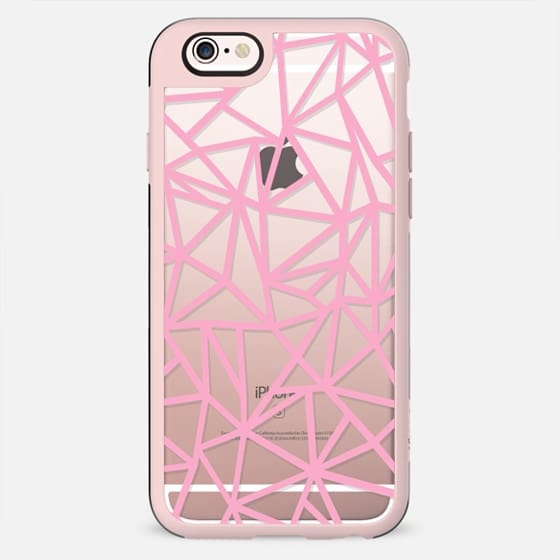 Abstraction Dense Pink Transparent - New Standard Case