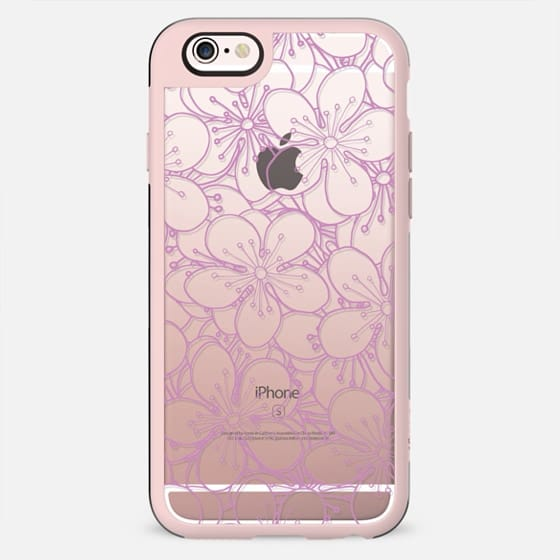 Cherry Blossom Pink Outline Transparent - New Standard Case
