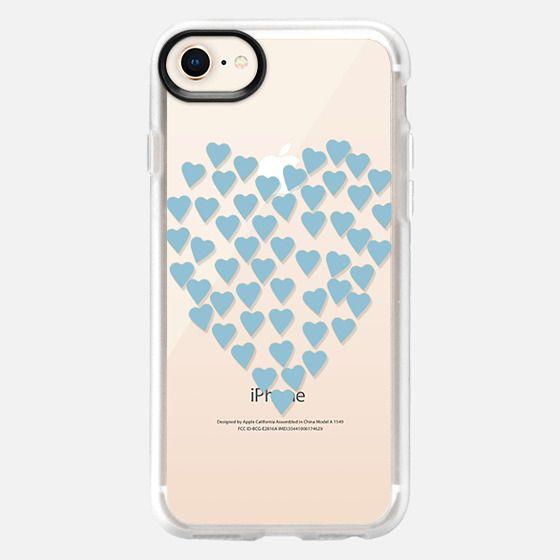 Hearts Heart Light Blue Transparent - Snap Case