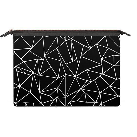 MacBook Air 13 Sleeves - Abstraction Outline White on Black Macbook