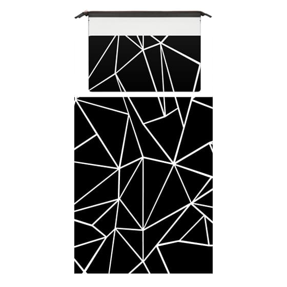 MacBook Pro 15 Sleeves - Abstraction Outline White on Black Macbook