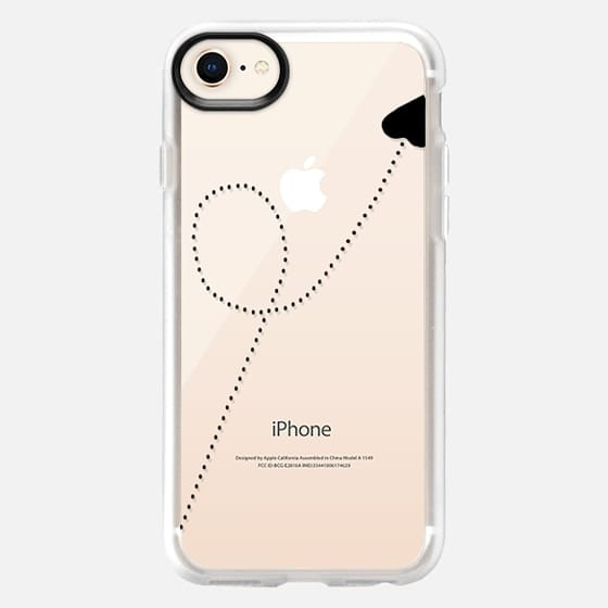 Travel To Your Heart Black Transparent - Snap Case
