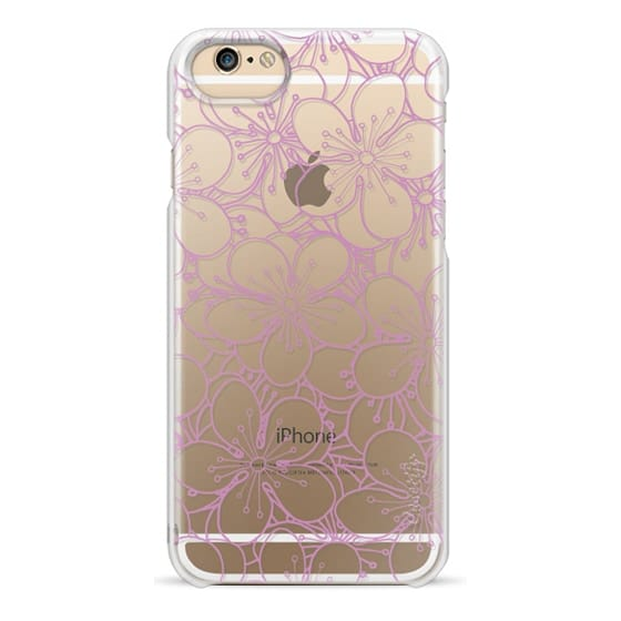iPhone 6s Cases - Cherry Blossom Pink Outline Transparent