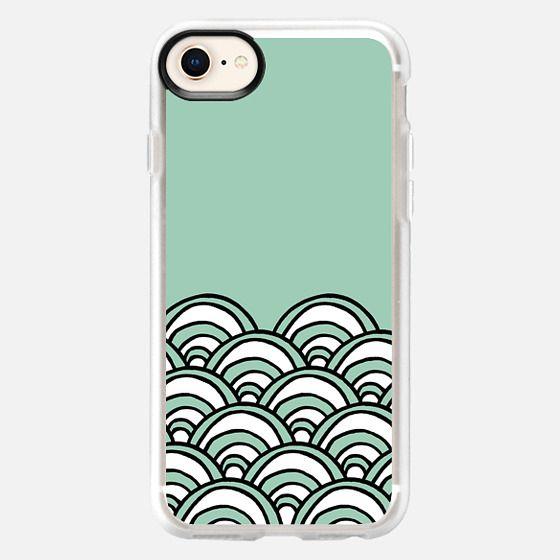 Waves Mint - Snap Case