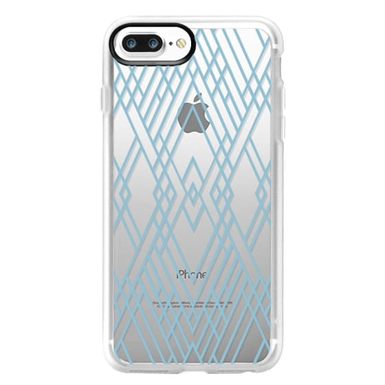 the latest 9accb 5e027 Classic Grip iPhone 7 Plus Case - Map Mirror Outline Sky Blue