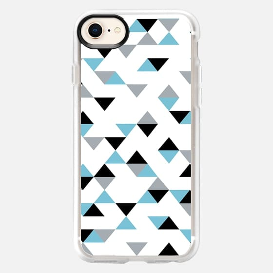 Triangles Ice Blue - Snap Case