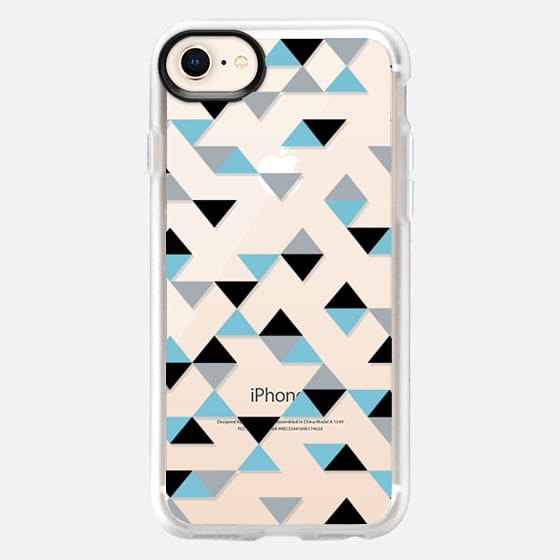 Triangles Ice Blue Transparent - Snap Case