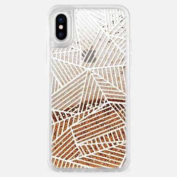 iPhone X Case Ab Lines White Transparent