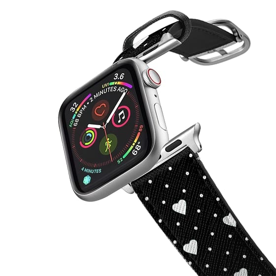 Apple Watch 38mm Bands - Pin Point Hearts Black #2