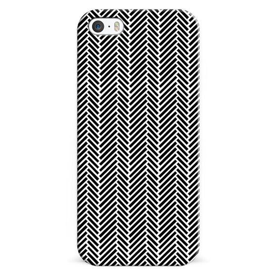 iPhone 7 Cases - Herringbone Black Inverse
