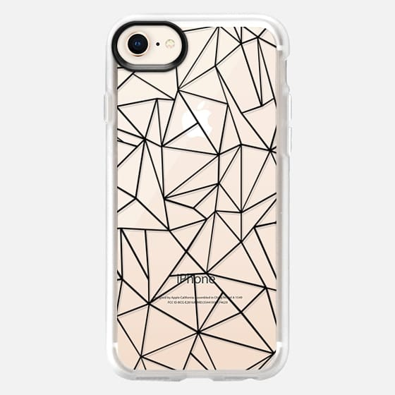 Abstraction Outline Transparent - Snap Case