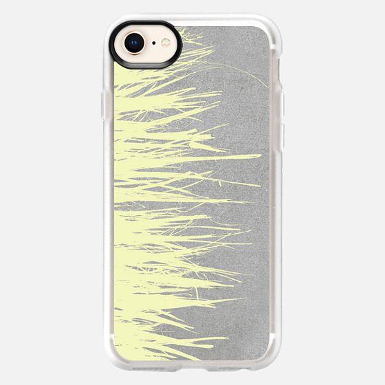 Concrete Fringe Yellow - Snap Case