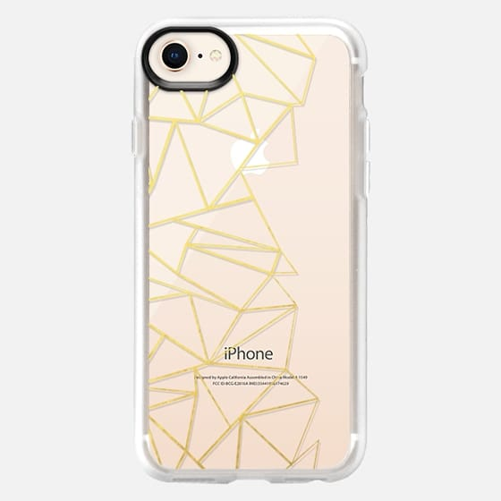 Ab Outline Gold Transparent - Snap Case