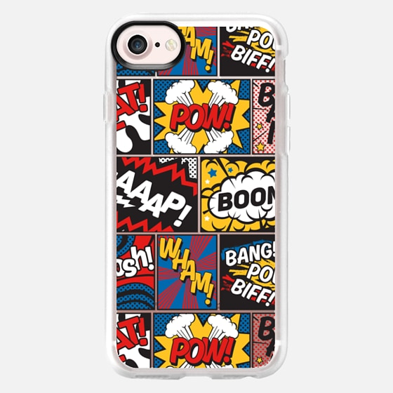 Modern Comic Book Superhero Pattern Colour Color -
