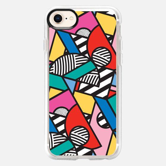 Colorful Memphis Modern Geometric Shapes - Snap Case