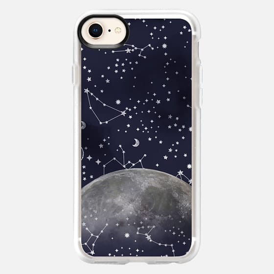 Mystic Galaxy Constellation Moon Stars and Cosmic Space - Snap Case