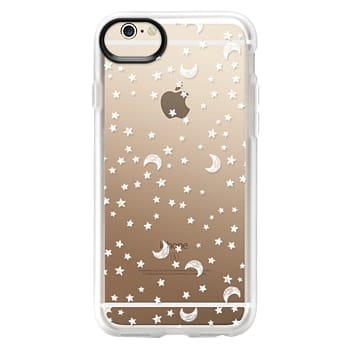 Grip iPhone 6 Case - Cosmic Galaxy White Scribble Moon & Stars