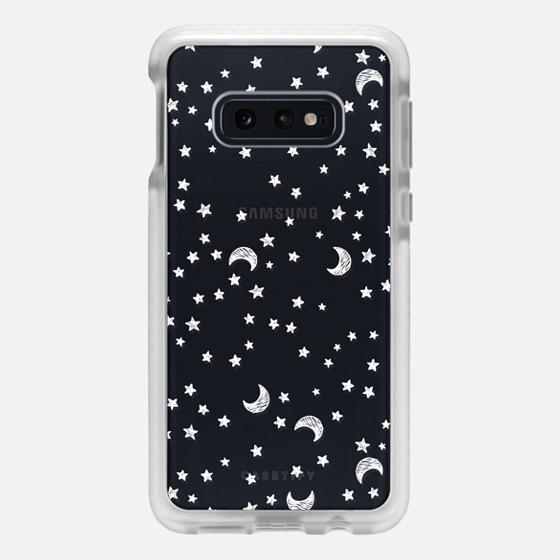 Samsung Galaxy / LG / HTC / Nexus Phone Case - Cosmic Galaxy White Scribble Moon & Stars