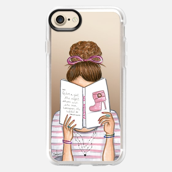 Fashion reading nerd book addict fashion illustration -