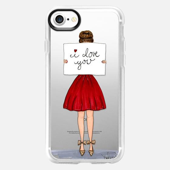 I love you valentines day fashion illustration - Wallet Case