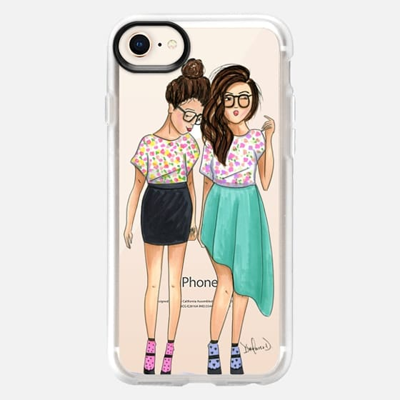 Best friend fashion illustration spring fashion floral outfit - Snap Case