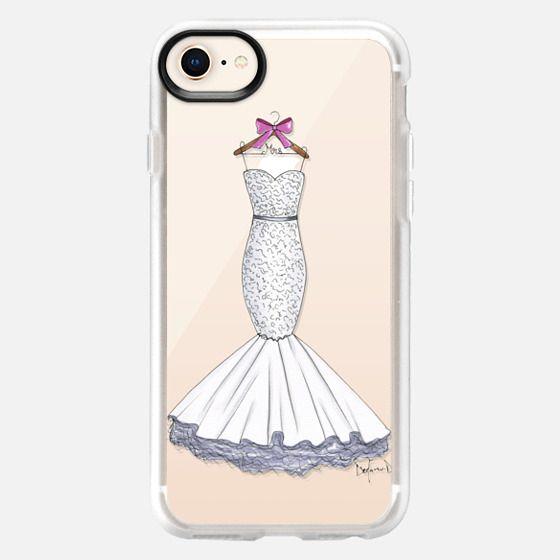 Wedding dress bride-to-be wedding day fashion illustration - Snap Case