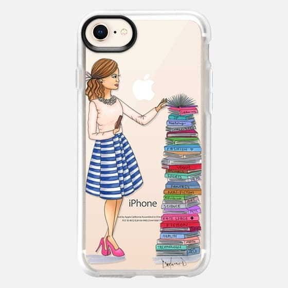 Library Librarian fashion illustration book lover book nerd - Snap Case