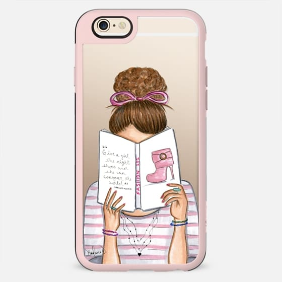 Fashion reading nerd book addict fashion illustration - New Standard Case