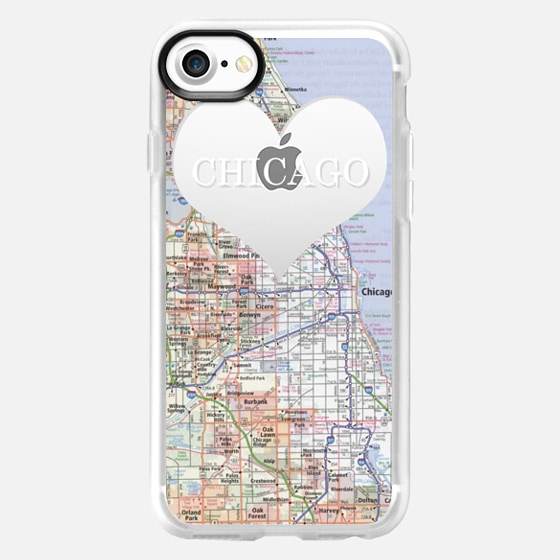 Heart Map - Chicago - Wallet Case