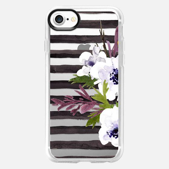 Floral Stripe - 2 - Classic Grip Case