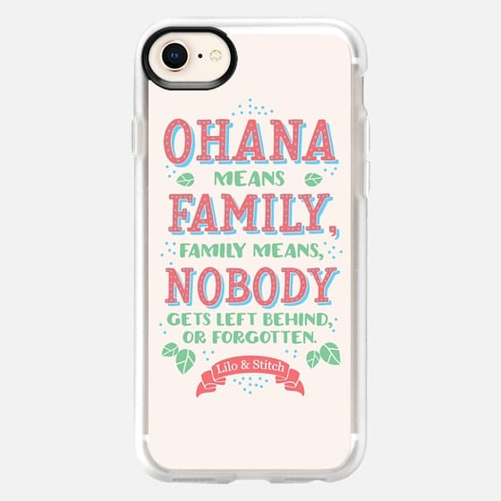 Lilo & Stitch - O'hana means Family - Snap Case