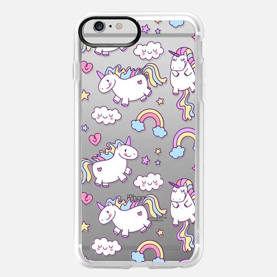 iPhone 6 Plus Case - Unicorns & Rainbows - Clear