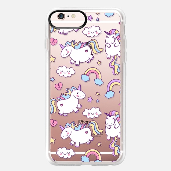 iPhone 6s Plus Case - Unicorns & Rainbows - Clear