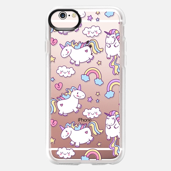 iPhone 6s Case - Unicorns & Rainbows - Clear