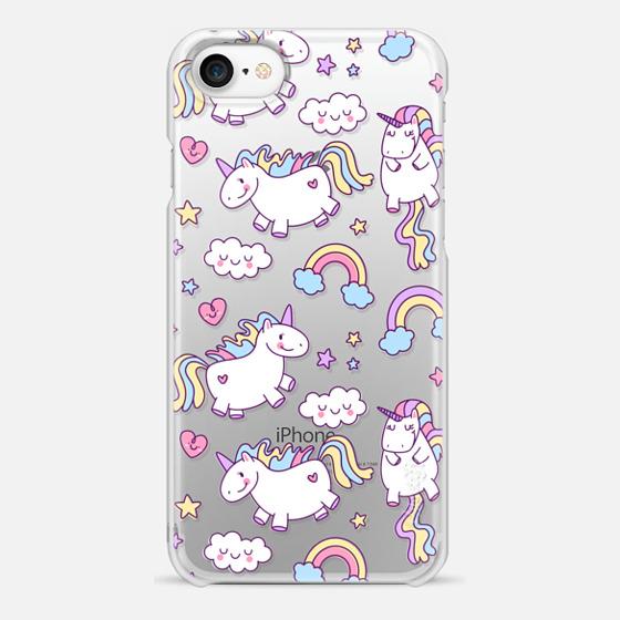 iPhone 7 Hülle - Unicorns & Rainbows - Clear