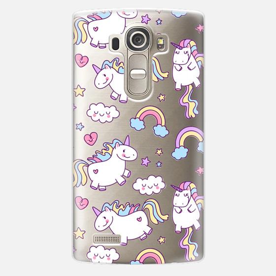 LG G4 Case - Unicorns & Rainbows - Clear