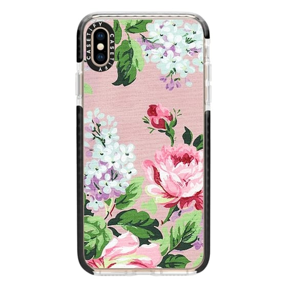 Impact Iphone Xs Max Case Vintage Floral Wallpaper
