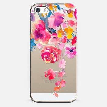 iPhone 5s Case Pink Confetti Watercolor Floral #2