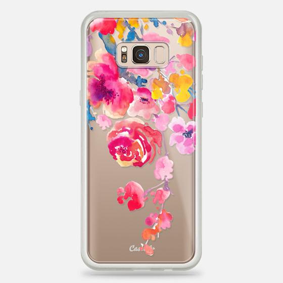 Galaxy S8+ Case - Pink Confetti Watercolor Floral #2
