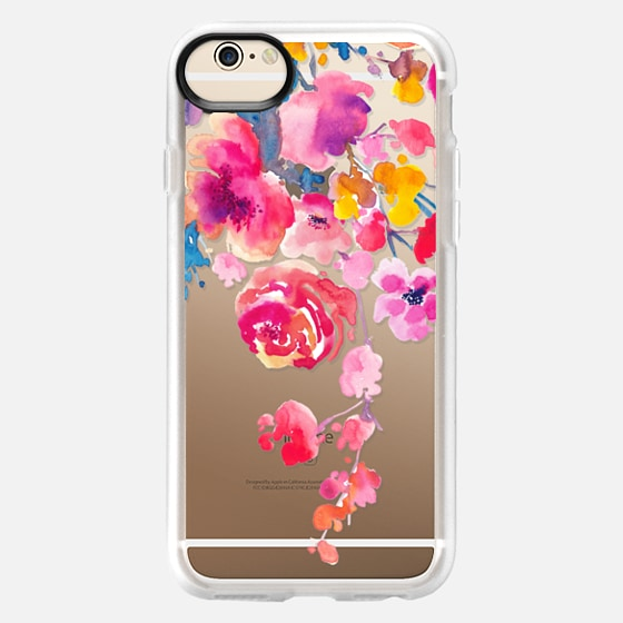 iPhone 6 Case - Pink Confetti Watercolor Floral #2
